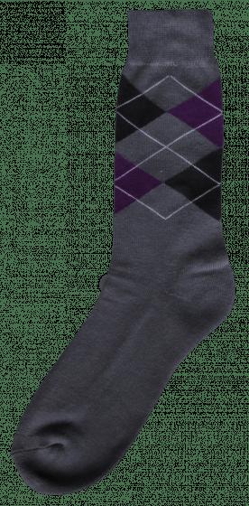 Excellent Reitsocke grau / schwarz / lila