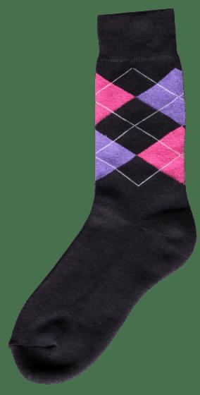 Excellent Pferdesocke d.grey / pink / lila