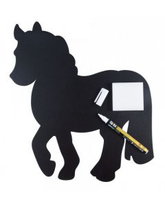 Tafel in Pferdemotiv