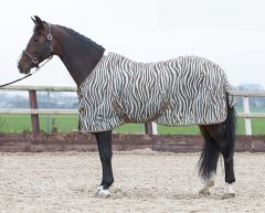 Harry's Horse fliegedecke Mesh, standardmassig mit Gurten, Zebra plume