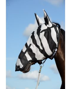 Bucas Buzz-Off Zebra Full Face Fliegenmaske