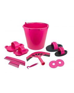 Hofman Polierset von 10 Stücken im Eimer pink