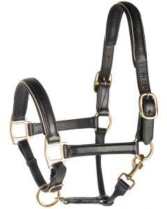 Harry's Horse Neckholder-Leder, schwarz mit zu beiababschneiden