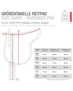 PFIFF Bareback-Pad mit festem Griff