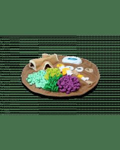 Hofman AFP Dig it - Runde flauschige Matte mit Spielzeug zu hacken