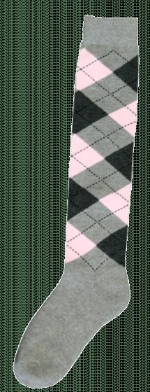 Excellent Kniestrümpfe RE hellgrau / dunkelgrau / pink 43-46